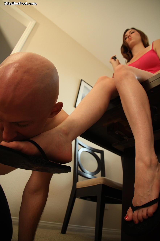 Femdom foot domination by a beautiful Mistress