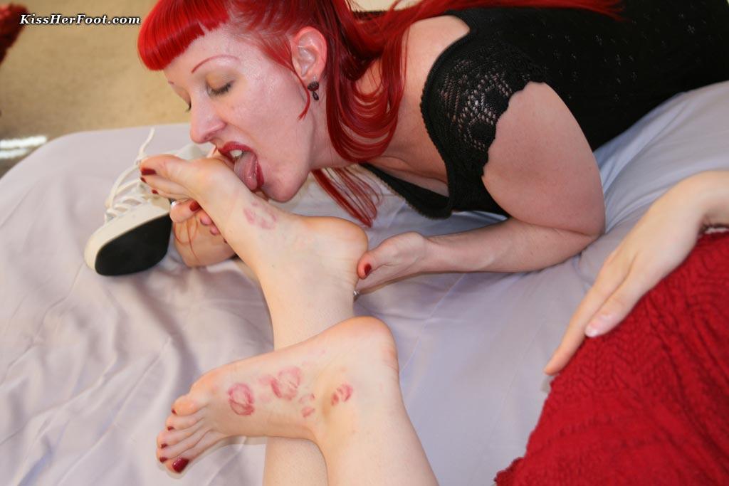 Still image from a foot fetish clip