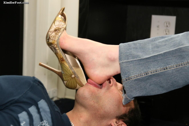 Toe sucking and feet licking
